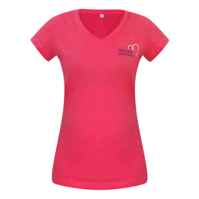 f3db6dc0 McGrath Foundation Shop Pink - Ladies V neck T-shirt
