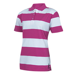 Ladies Striped Polo Shirt