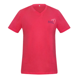 Shop Pink Men's V neck T-shirt